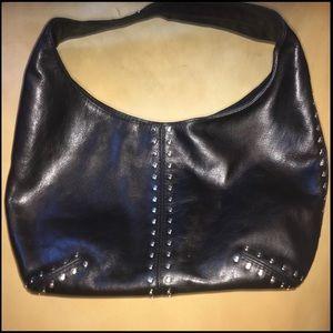 Michael Kors leather shoulder bag with studs